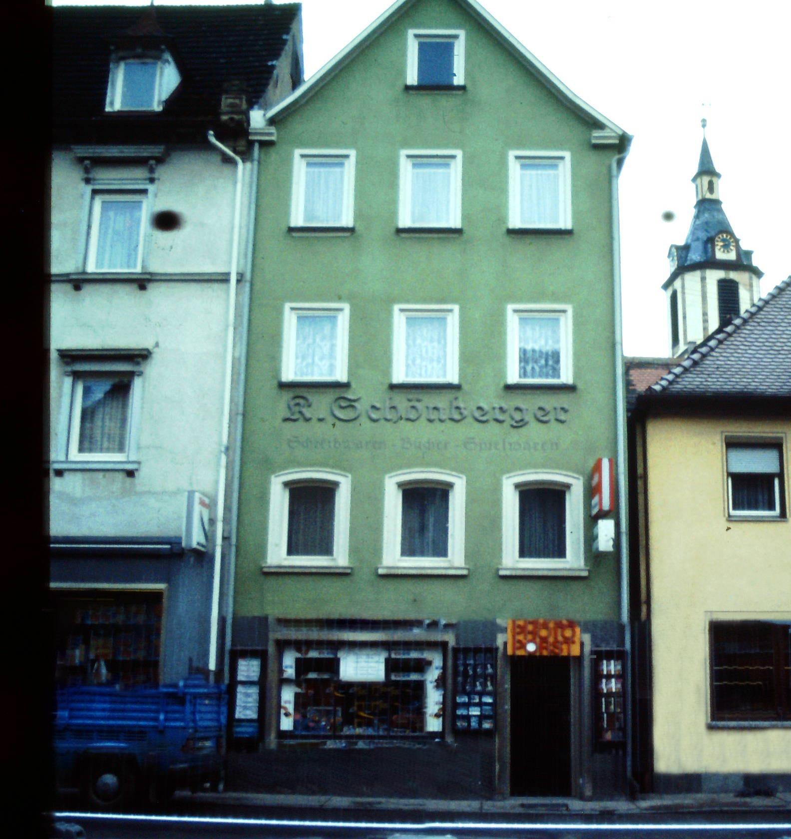 Das alte Geschäftshaus Hauptstraße 25